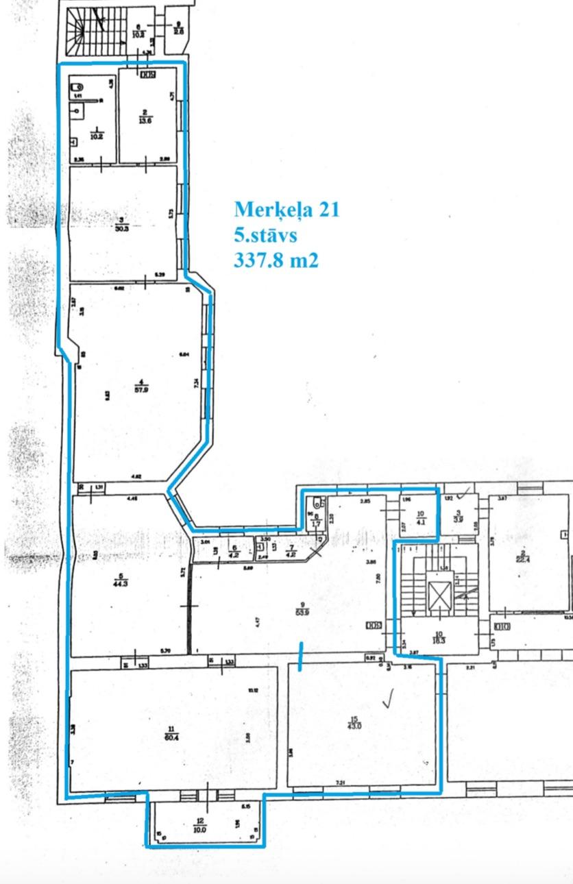 Iznomā biroju, Merķeļa iela - Attēls 1