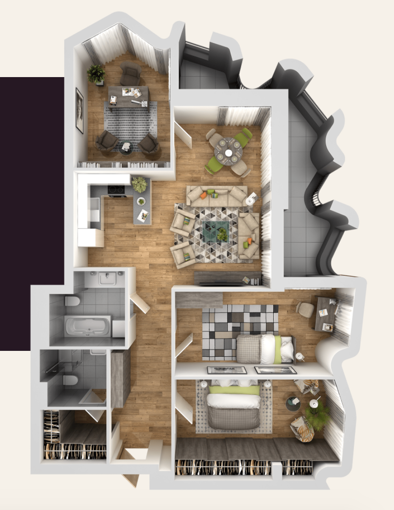Pārdod dzīvokli, Čaka iela 134 - Attēls 1