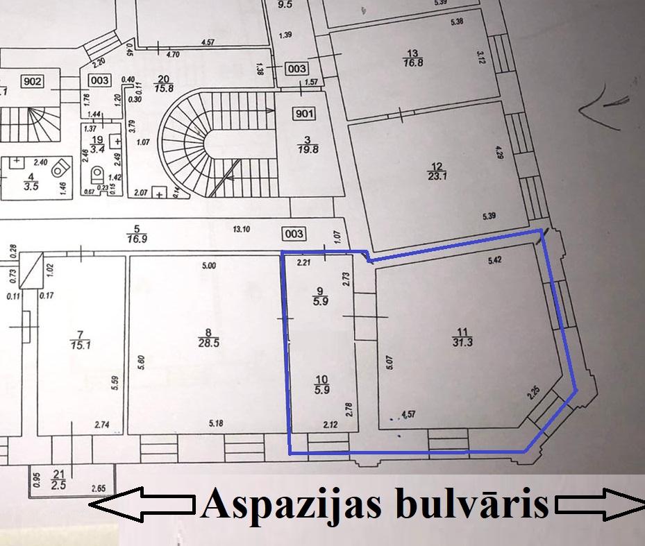 Iznomā biroju, Aspāzijas bulvāris - Attēls 1
