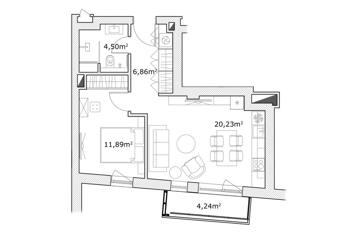 Pārdod dzīvokli, Mednieku iela 5 - Attēls 1