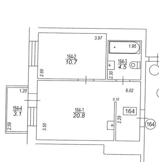 Izīrē dzīvokli, Rusova iela 7 - Attēls 1