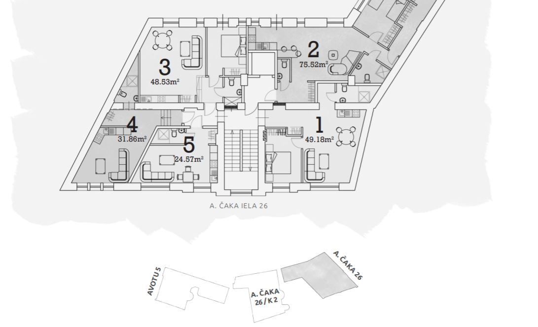 Pārdod dzīvokli, Aleksandra Čaka iela 26 - Attēls 1