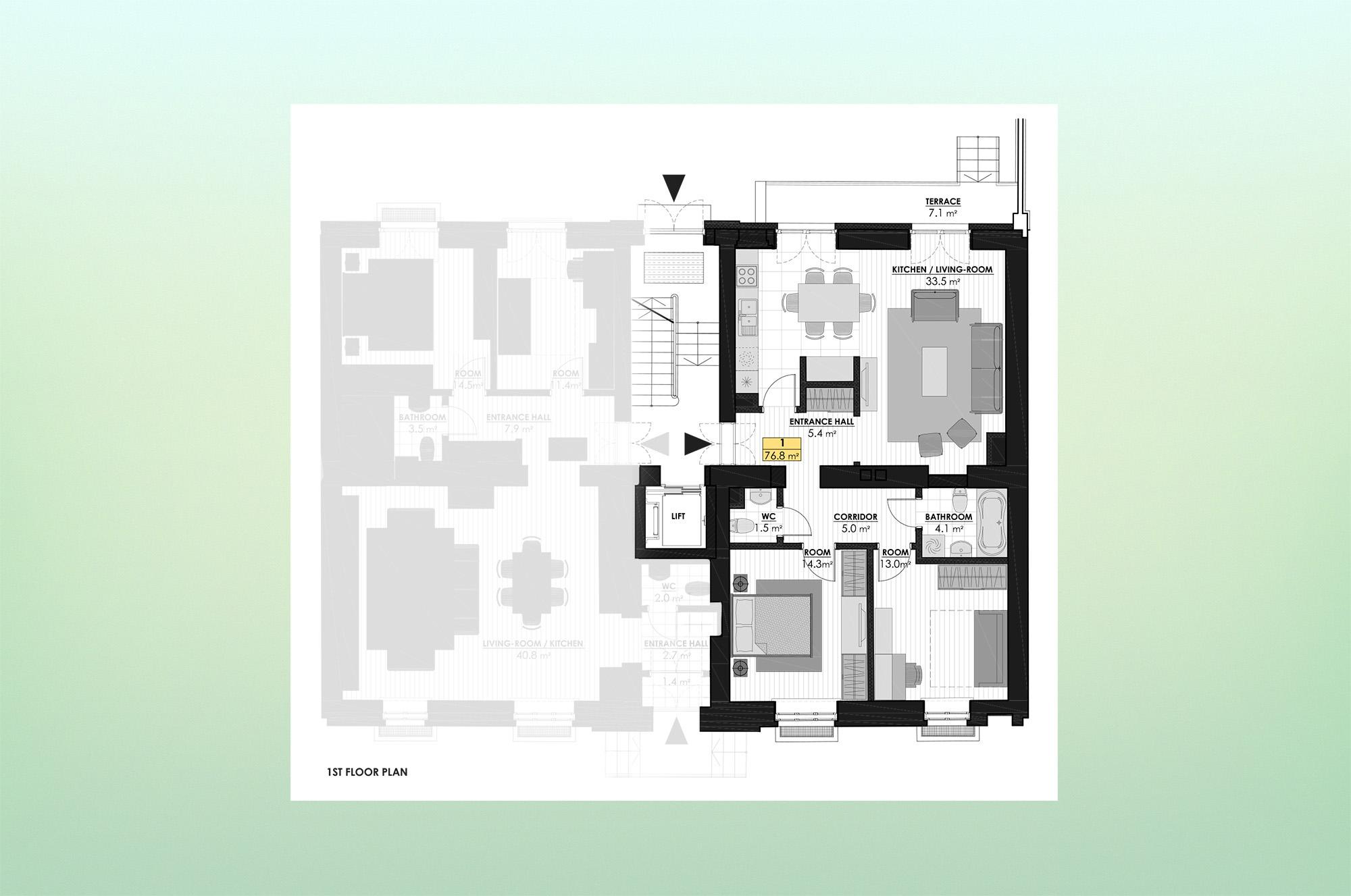 Izīrē dzīvokli, Ogļu iela 32 - Attēls 1