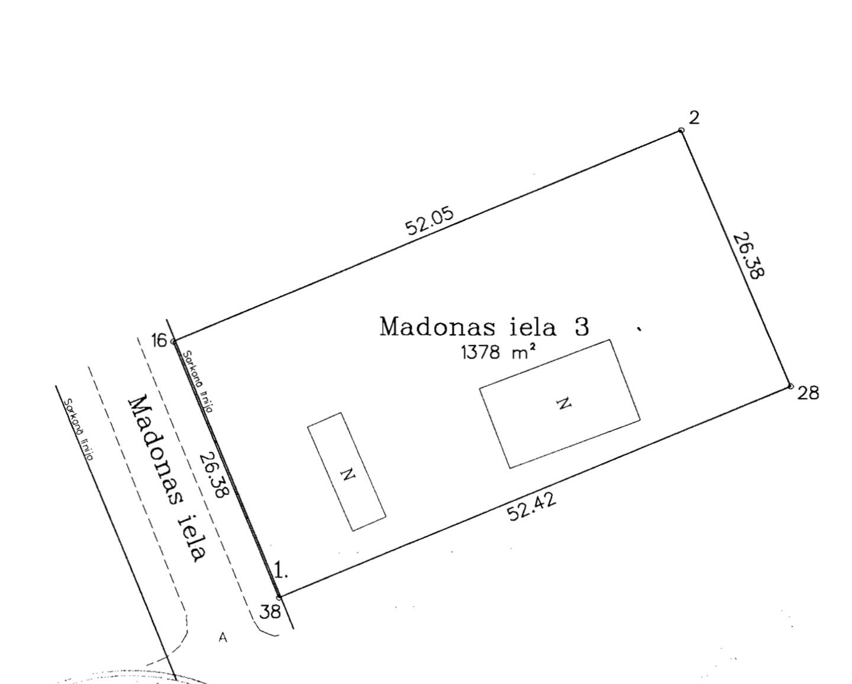 Land plot for sale, Madonas street - Image 1
