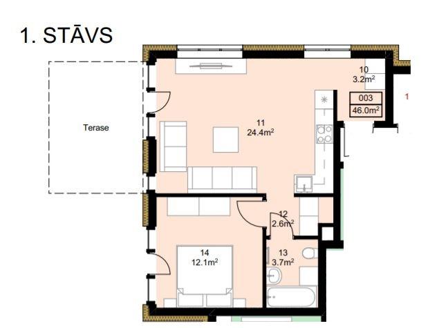 Pārdod dzīvokli, Ventspils iela iela 6 - Attēls 1