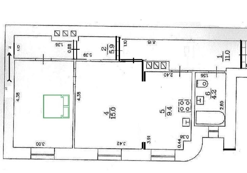 Pārdod dzīvokli, Vidus iela 11 - Attēls 1