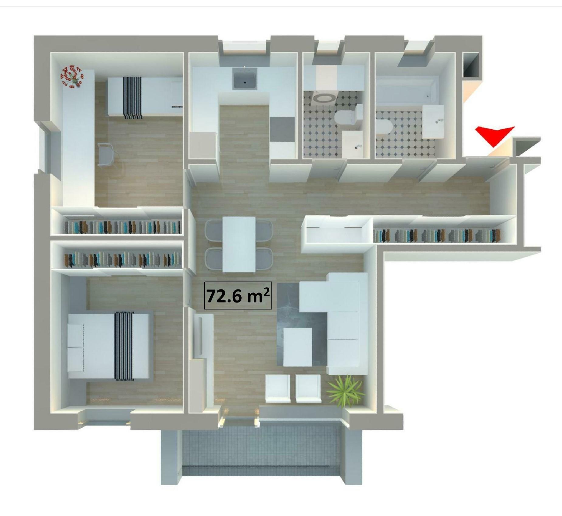Pārdod dzīvokli, Stacijas iela 48 - Attēls 1