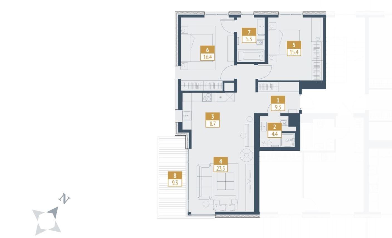 Pārdod dzīvokli, Jaunā Mežaparka iela 34 - Attēls 1