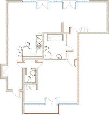 Izīrē dzīvokli, Kalpaka iela 7 - Attēls 8