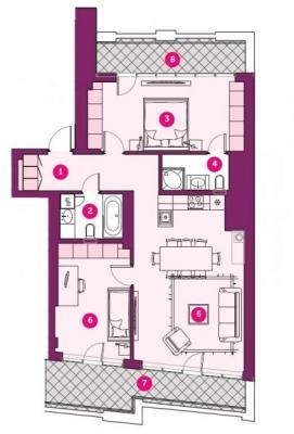 Pārdod dzīvokli, Dzirnavu iela 85 - Attēls 3