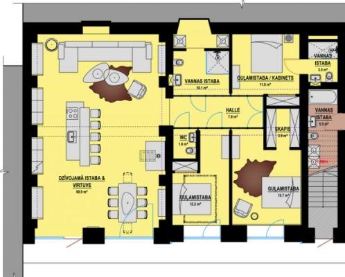 Pārdod dzīvokli, Artilērijas iela 6 - Attēls 19