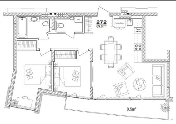 Apartment for sale, Klijānu street 16 - Image 9