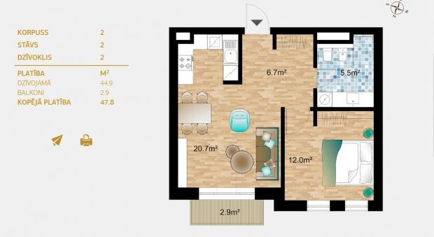 Pārdod dzīvokli, Dzirnavu iela 36 - Attēls 6