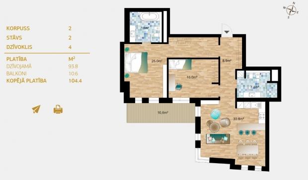Продают квартиру, улица Dzirnavu 36 - Изображение 6