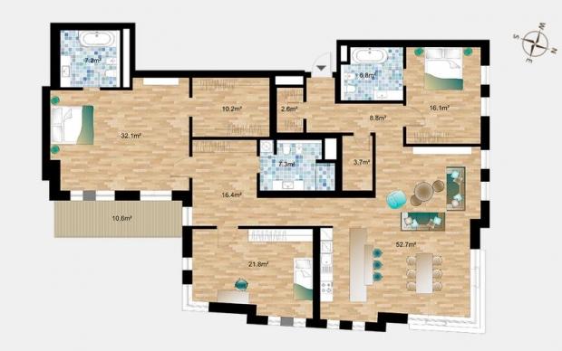 Izīrē dzīvokli, Jeruzalemes iela 5 - Attēls 19
