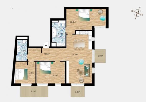 Pārdod dzīvokli, Dzirnavu iela 36 - Attēls 18