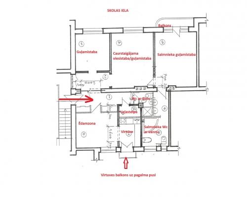 Izīrē dzīvokli, Skolas iela 30 - Attēls 29