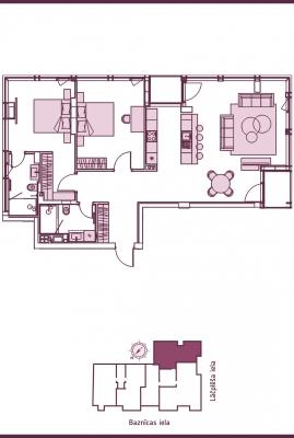 Продают квартиру, улица Lāčplēša iela 11 - Изображение 11