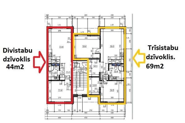 Izīrē dzīvokli, Ozolkalni B 1 - Attēls 15