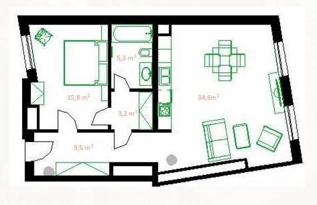 Izīrē dzīvokli, Vāgnera iela 11 - Attēls 13