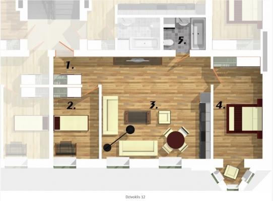 Izīrē dzīvokli, Elizabetes iela 22 - Attēls 10