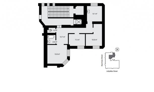 Apartment for sale, Lāčplēša iela street 13 - Image 4