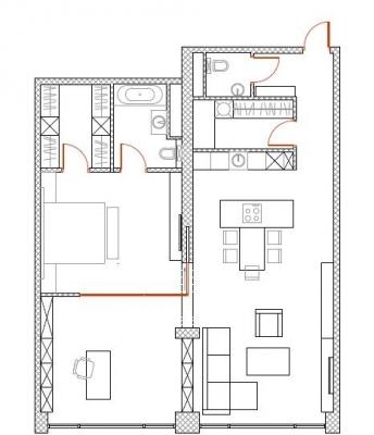 Izīrē dzīvokli, Audēju iela 14 - Attēls 19