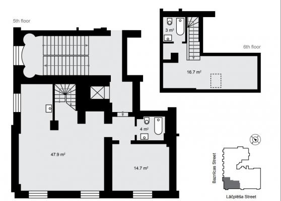 Pārdod dzīvokli, Lāčplēša iela 13 - Attēls 9
