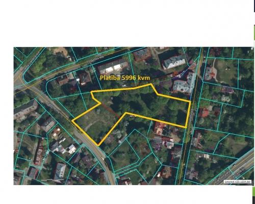 Pārdod zemi, Baseina iela - Attēls 1