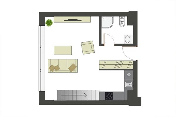 Pārdod dzīvokli, Jaunsaules iela 1 - Attēls 5