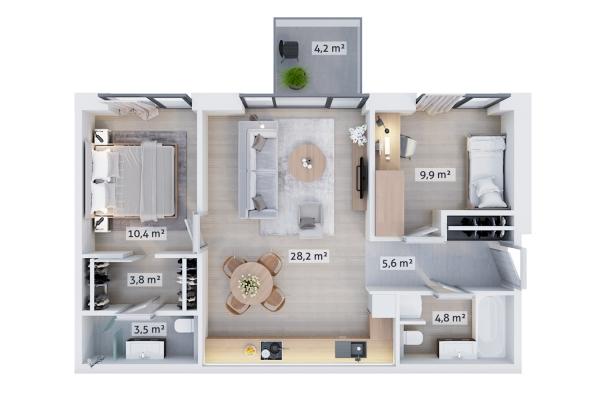 Продают квартиру, улица Rūpniecības 25 - Изображение 3