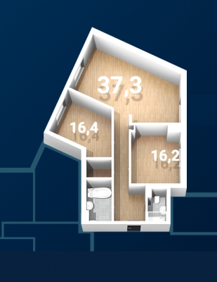 Apartment for rent, Strēlnieku street 7 - Image 13