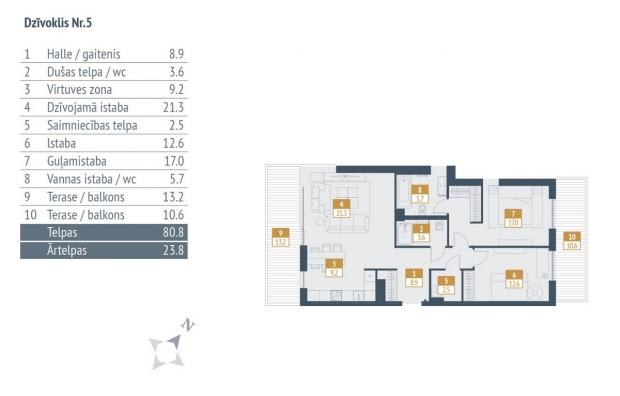 Pārdod dzīvokli, Jaunā Mežaparka iela 32 - Attēls 7