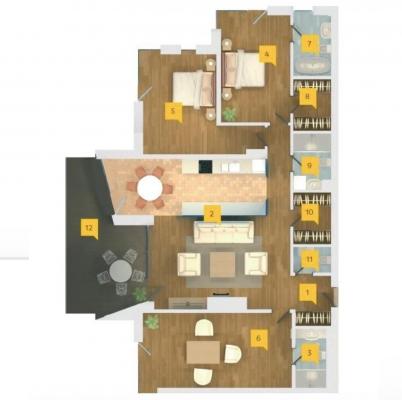 Pārdod dzīvokli, Dzintaru prospekts iela 36 - Attēls 30