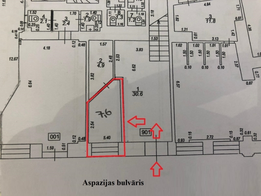 Iznomā tirdzniecības telpas, Aspāzijas bulvāris - Attēls 6
