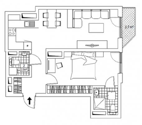 Izīrē dzīvokli, Elizabetes iela 39 - Attēls 8