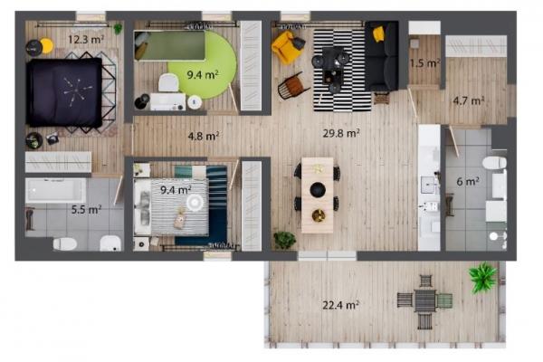 Pārdod dzīvokli, Saulkrastu iela 1 - Attēls 7
