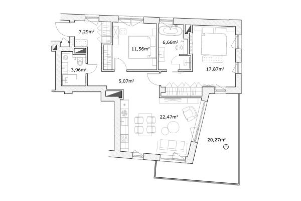 Pārdod dzīvokli, Mednieku iela 5 - Attēls 10